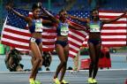 [高清组图]女子田径100米栏决赛 美国包揽奖牌