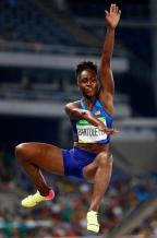 [高清组图]女子跳远:美国选手巴尔托莱塔夺冠