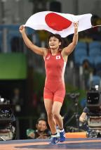 [高清组图]女子自由式摔跤58公斤级 日本夺冠