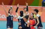 [高清组图]中国女排3-1胜荷兰 晋级奥运决赛