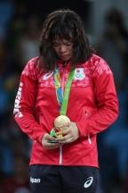 [高清组图]女子自由式摔跤63公斤级 日本夺金