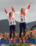 [高清组图]女子双人艇470级:英国组合夺得金牌