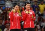 [高清组图]日本2:1胜丹麦组合夺羽毛球女双金牌