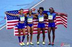 [高清组图]田径女子4x100米接力决赛 美国队夺冠