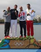 [高清组图]皮划艇静水:男单皮艇200米 英国夺金