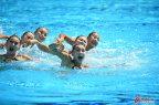 [高清组图]中国队获得花样游泳集体项目银牌