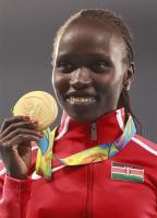 [高清组图]奥运会女子5000米 肯尼亚选手夺冠