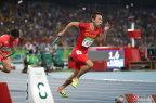 [高清组图]男子4x100米接力 中国第四牙买加夺冠