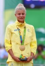[高清组图]自行车女子山地越野 瑞典名将夺金
