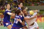 [高清组图]女子手球法国逆转未果 俄罗斯夺冠军