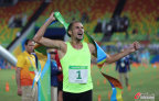 [高清组图]男子现代五项俄罗斯选手列松夺得金牌