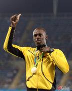 [高清组图]奥运会男子4×100米接力 颁奖仪式
