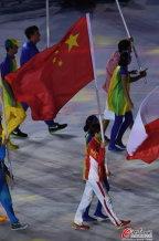 [高清组图]里约奥运会闭幕式:中国代表团入场