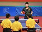 [高清组图]乒乓球队示范表演 马龙丁宁领衔出战