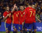 [高清组图]世预赛-科斯塔替身进球 西班牙4-0胜