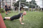 [高清组图]赛场执法者体能锻炼为新赛季做准备