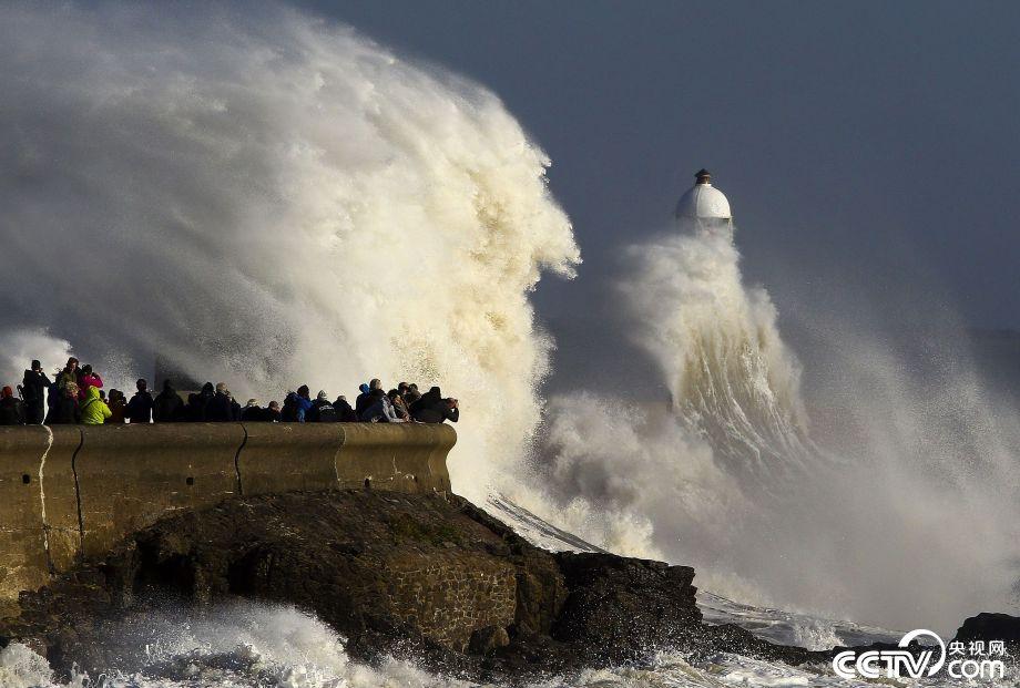 """罕见飓风""""奥费利娅""""奔袭爱尔兰,英国"""