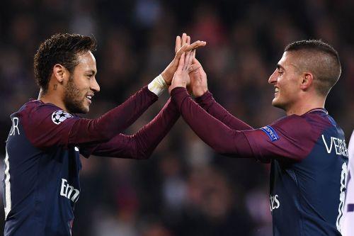 欧冠-内马尔破门飞翼戴帽 巴黎5-0全胜提前出线