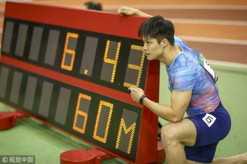 6秒43!苏炳添再破60米亚洲纪录