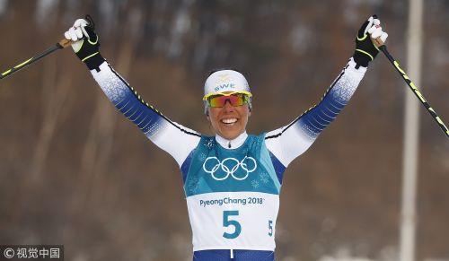 [高清组图]首金诞生 瑞典选手卡拉夺冠双追逐赛