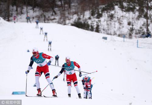 [高清组图]越野滑雪男子15+15公里:挪威揽前三名