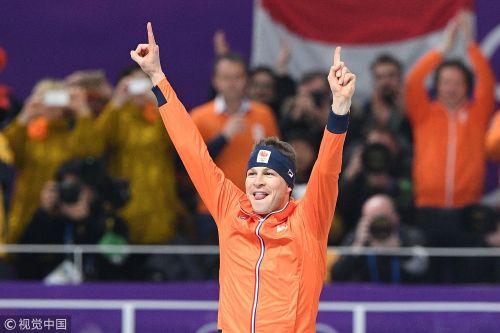 [高清组图]速滑男子5000米 荷兰名将破纪录夺冠