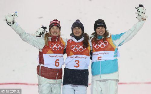 [高清组图]自由式滑雪雪上技巧女子 法国选手摘金