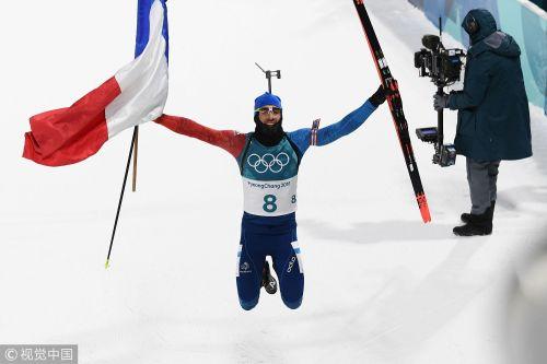 [高清组图]冬季两项男子12.5公里法国名将再添一金