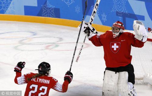[高清组图]女子冰球瑞士3-1胜日本 暂位列B组榜首
