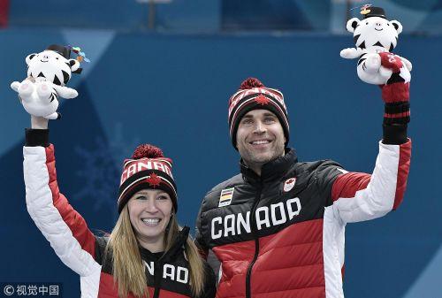 [高清组图]冬奥冰壶混双加拿大夺金 中国获得第五