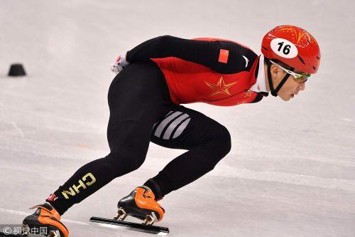 [高清组图]短道速滑男子1000米预赛:武大靖晋级