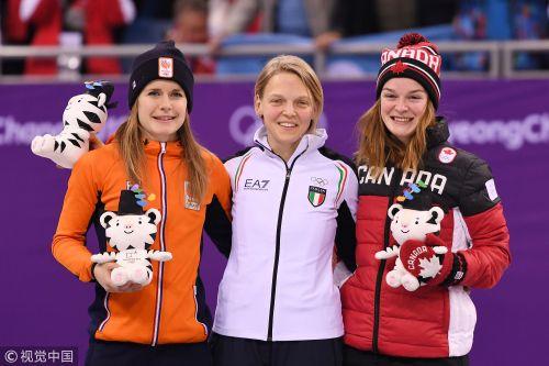 [高清组图]短道速滑女子500米意大利老将夺冠