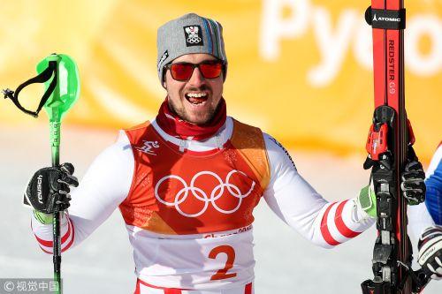 [高清组图]高山滑雪全能希尔舍尔夺冠 法国二三名