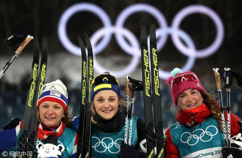 [高清组图]越野滑雪女子短距离赛 瑞典名将夺金