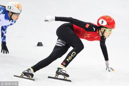 [高清组图]短道女子500米半决赛:范可新无缘决赛