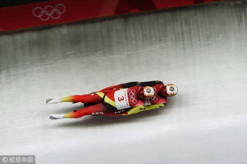 [高清组图]雪橇双人决赛 德国文德尔/阿尔特夺冠