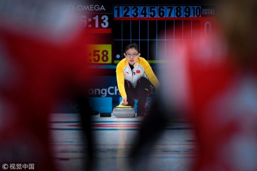 [高清组图]冰壶中国7-2瑞士 王冰玉率队取开门红