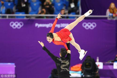 [高清组图]最美舞者! 隋韩组合获花滑双人滑亚军