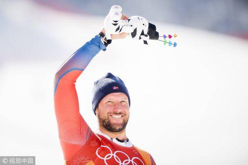 [高清组图]挪威包揽高山滑雪男子速降赛冠亚军