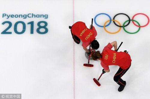 [高清组图]冰壶女子循环赛 中国10-7丹麦获两连胜