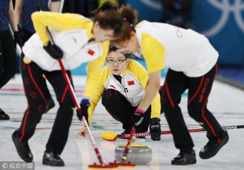 [高清组图]女子冰壶  中国队加局逆转胜日本队