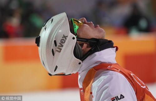 [高清组图]自由式滑雪空中技巧 贾宗洋摘银
