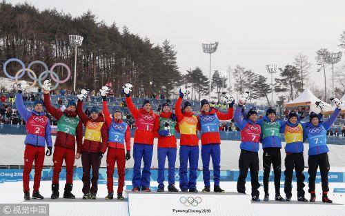 [高清组图]越野滑雪男子4x10公里接力 挪威选手夺冠