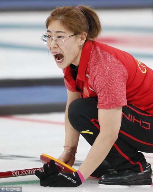 [高清组图]女子冰壶中国负美国 两连败晋级渺茫