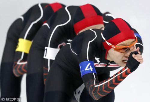 [高清组图]冬奥速滑女子团体追逐赛 中国无缘四强
