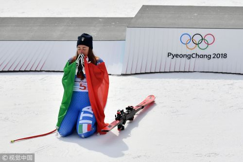 [高清组图]高山滑雪速降 意大利女将格志亚夺金