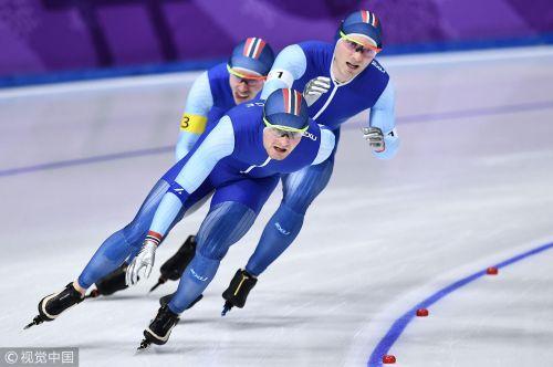 [高清组图]冬奥速滑男团追逐赛挪威夺金