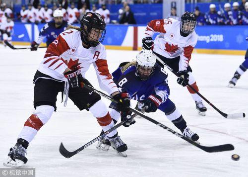 [高清组图]加时赛险胜 冰球女子决赛美国队夺冠