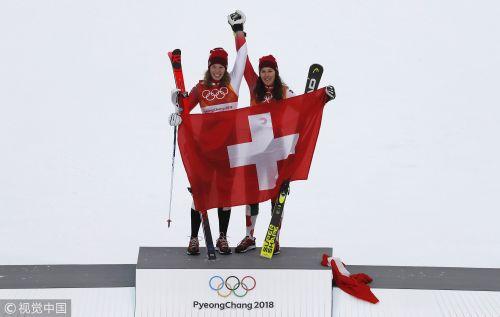 [高清组图]高山滑雪女子全能赛决赛 瑞士名将摘金