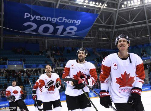 [高清组图]男子冰球铜牌战 加拿大6-4胜捷克
